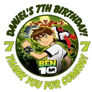 Personalised Ben 10 Party Stickers